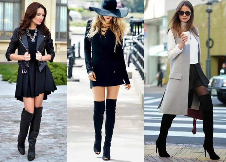 botas over the knee combinam com qualquer estilo