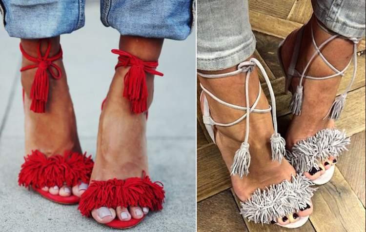cuidados especiais com as sandálias