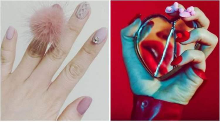 inspiração para decorar as unhas com pompom