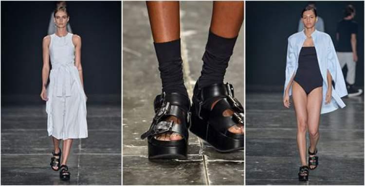 Sandália pesada é uma tendência para o verão 2017