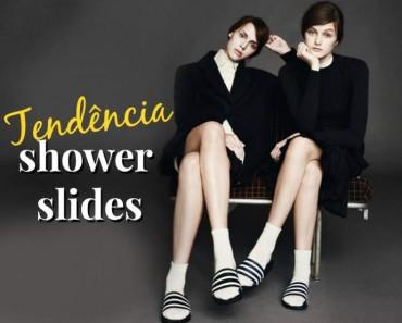 tendência shower slides