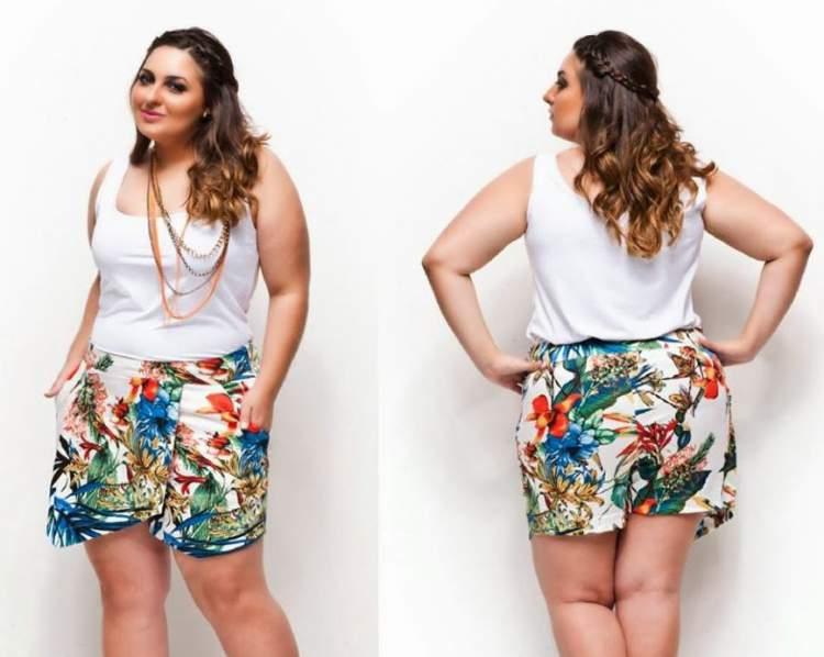 Shorts de Cintura Alta Para Gordinhas