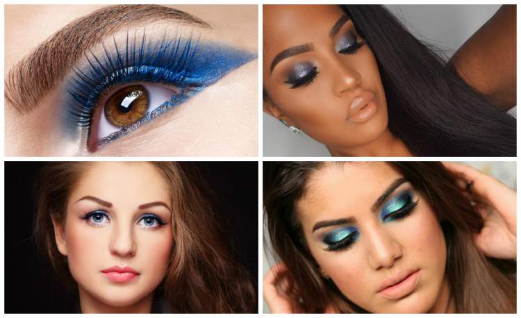 maquiagem azul para festa de formatura