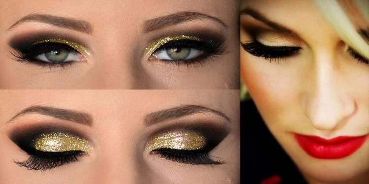 maquiagem dourada para festa de formatura