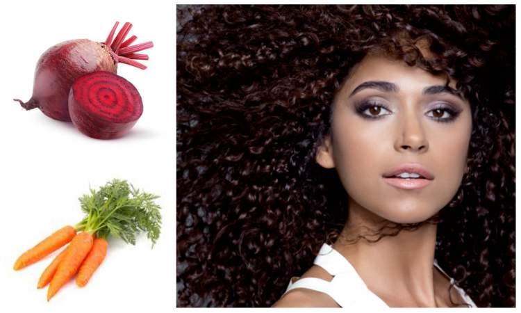 tratamento caseiro para cabelo cacheado com beterraba e cenoura