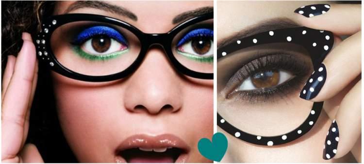 truque de maquiagem para quem usa óculos