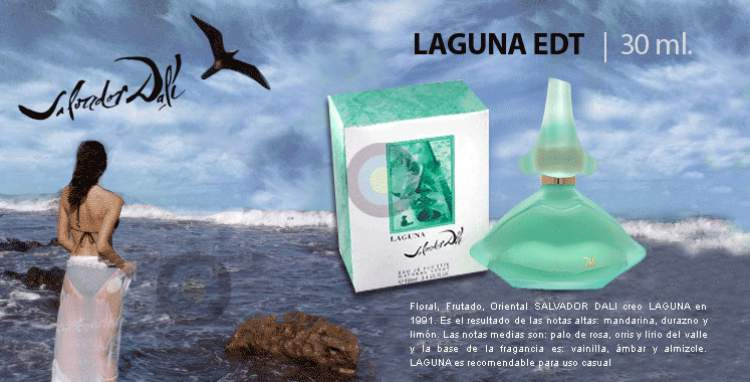 Laguna, Salvador Dalí é um dos melhores perfumes femininos para o dia a dia