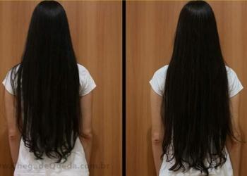 antes e depois do crescimento dos cabelos