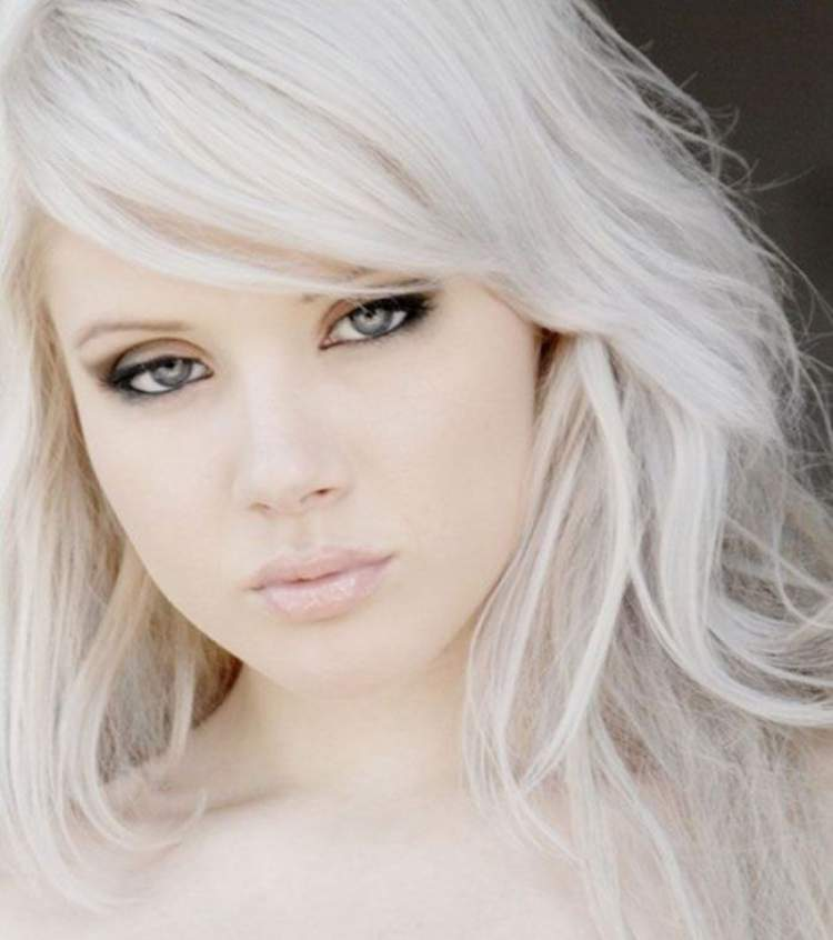 cabelo loiro branco