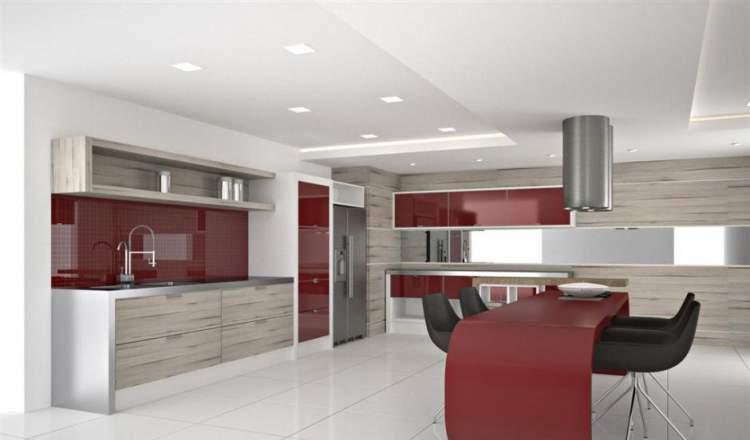 cozinha aberta com sala de jantar