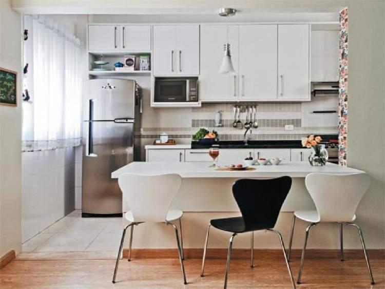 38 modelos de cozinha planejada pequena site de beleza e for Cortinas departamentos pequenos