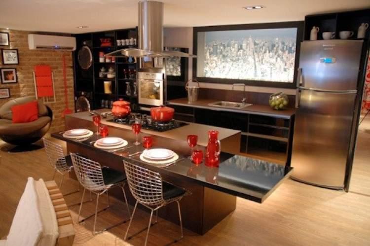 cozinha dentro da sala
