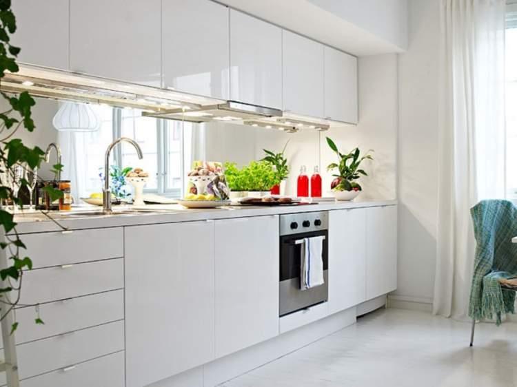 cozinha em uma parede