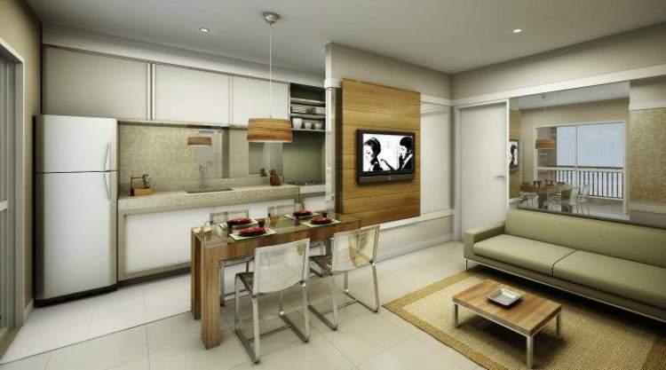 cozinha integrada com a sala