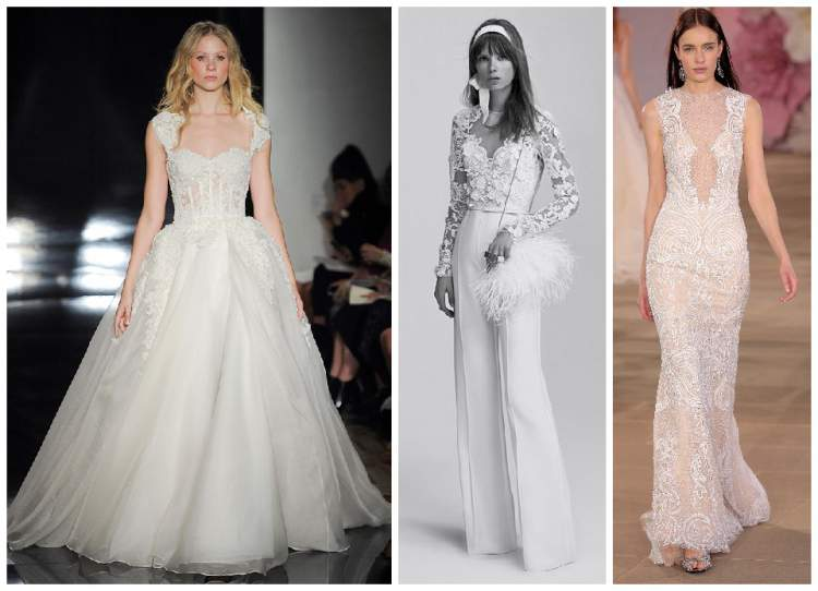 decote profundo figura entre as tendências em vestido de noiva para 2017