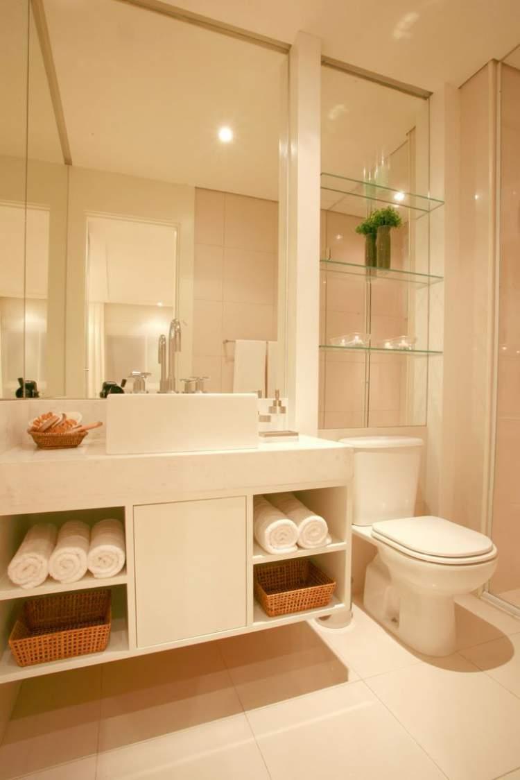 6 Ideias Para Decoração de Banheiros Pequenos para Você se Inspirar  Site de -> Decoracao De Banheiro Pequeno Bege