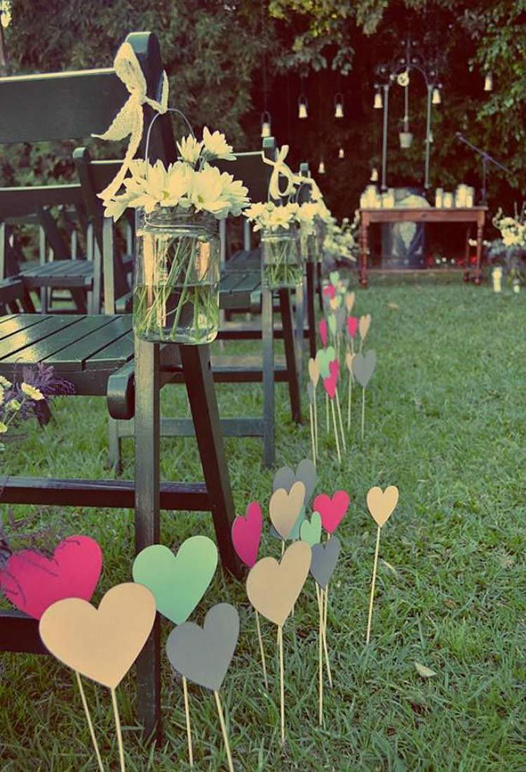 Decora o de casamento simples 12 ideias maravilhosas for Como organizar mi jardin