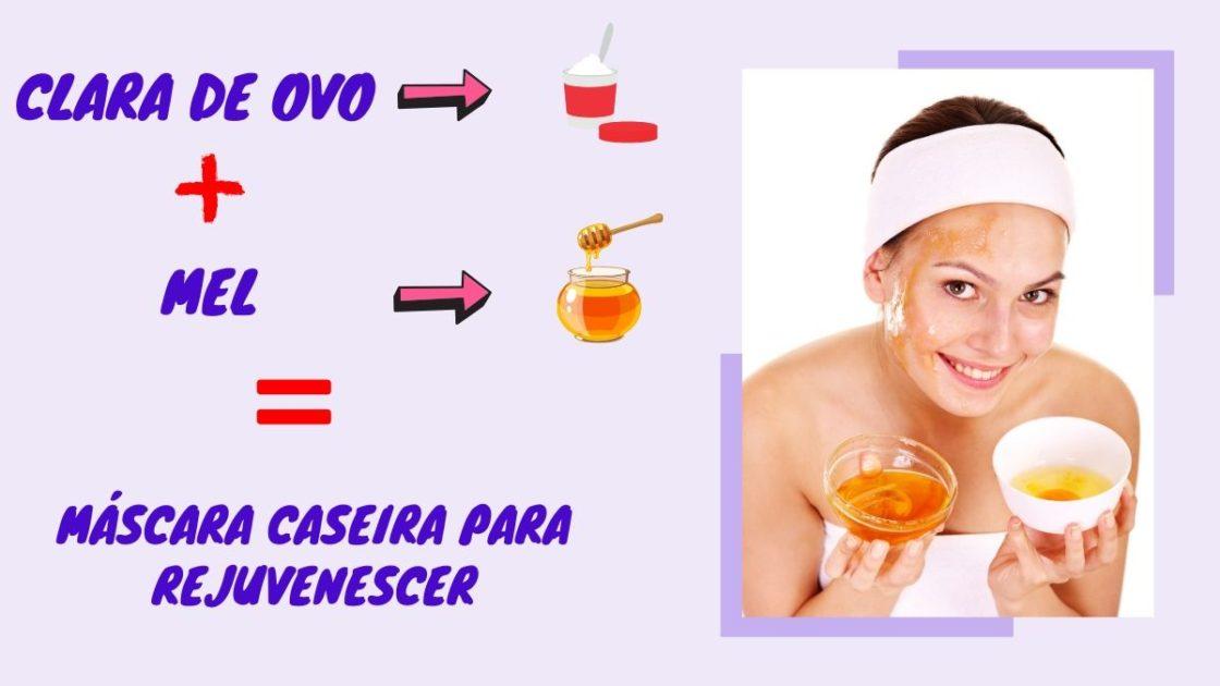 tratamento caseiro para rejuvenescimento da pele com clara de ovo