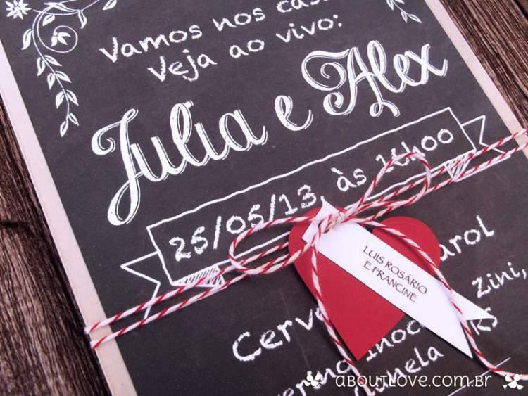 mensagens em quadros negros para inovar na decoração de casamento