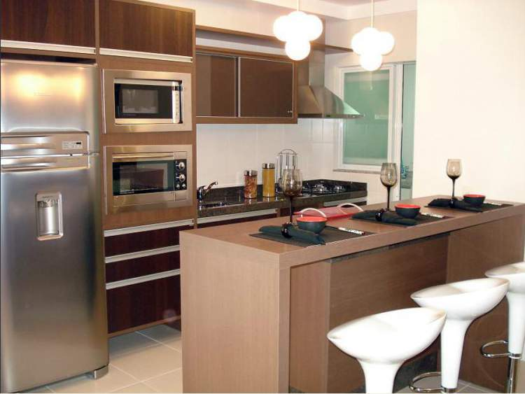 Fotos de cozinha planejada americana pequena 64