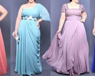 opções em vestidos de festa para gordinhas