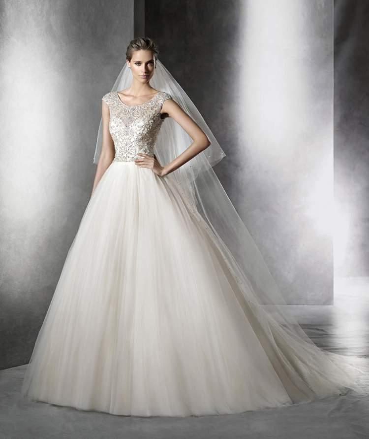 riqueza de princesa é uma das tendências em vestido de noiva para 2017