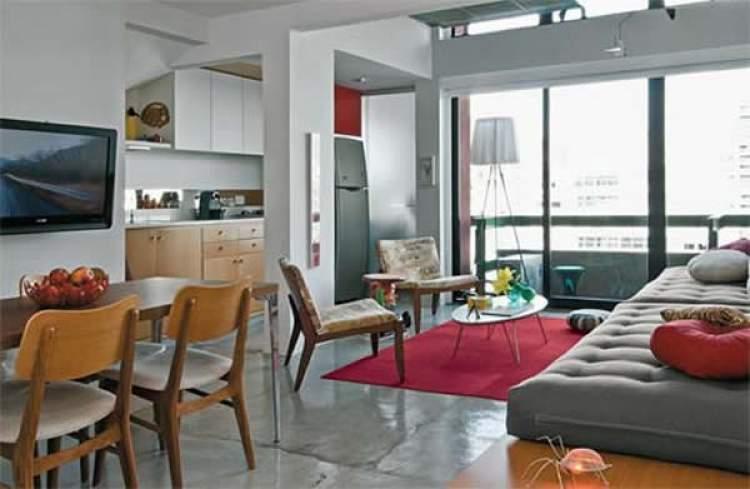 sala e cozinha no mesmo ambiente