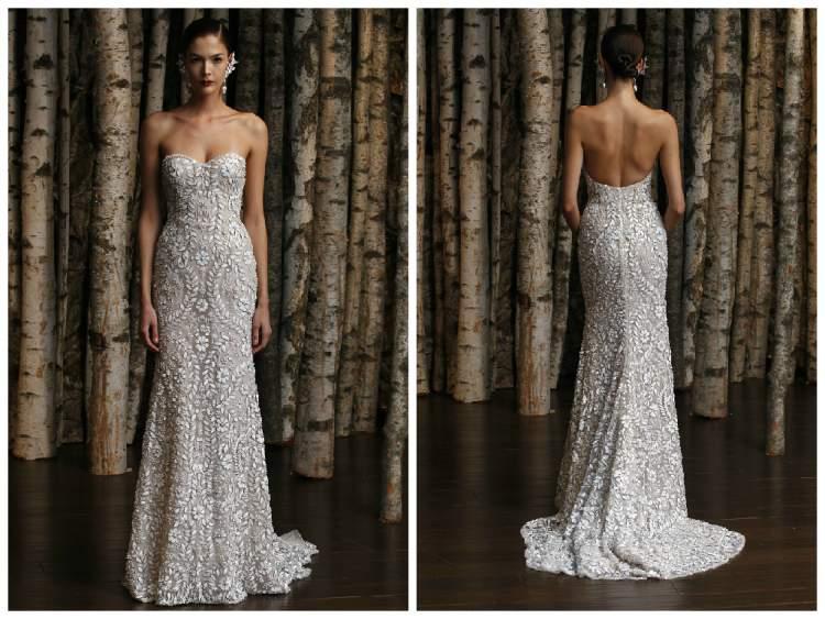 transparência e bordados presentes nas tendências em vestidos de noiva para 2017