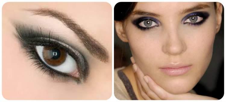 truque de maquiagem para diminuir os olhos