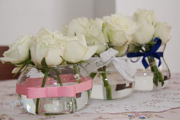 vasos decorados para casamento simples