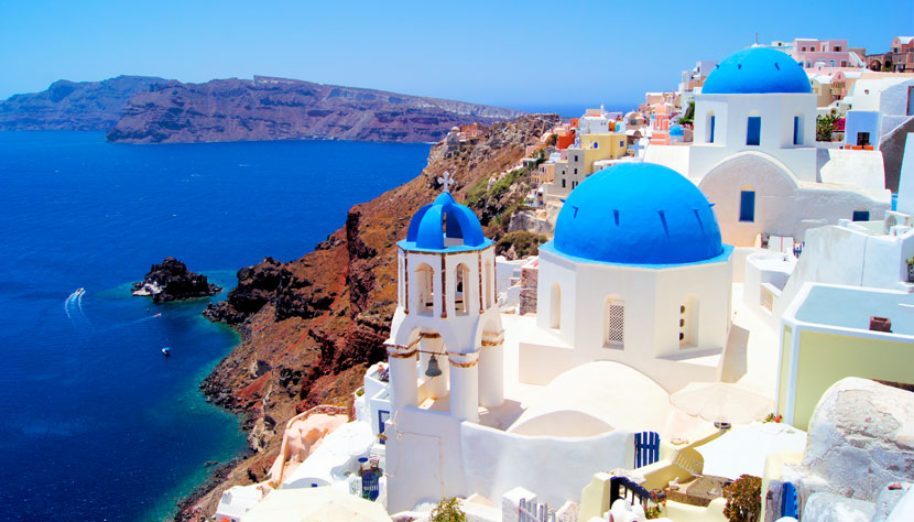 Santorini na Grécia