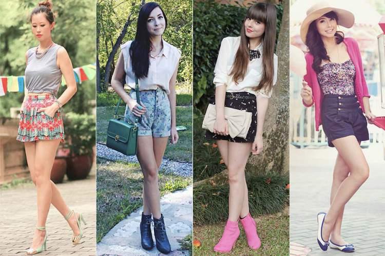 Shorts de cintura alta