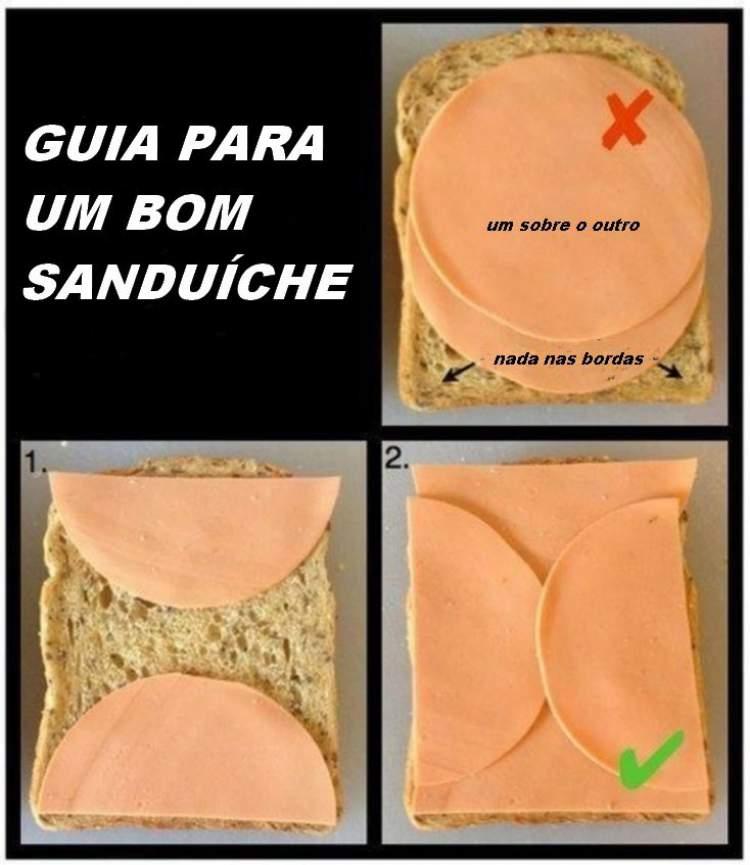 como fazer um sanduiche