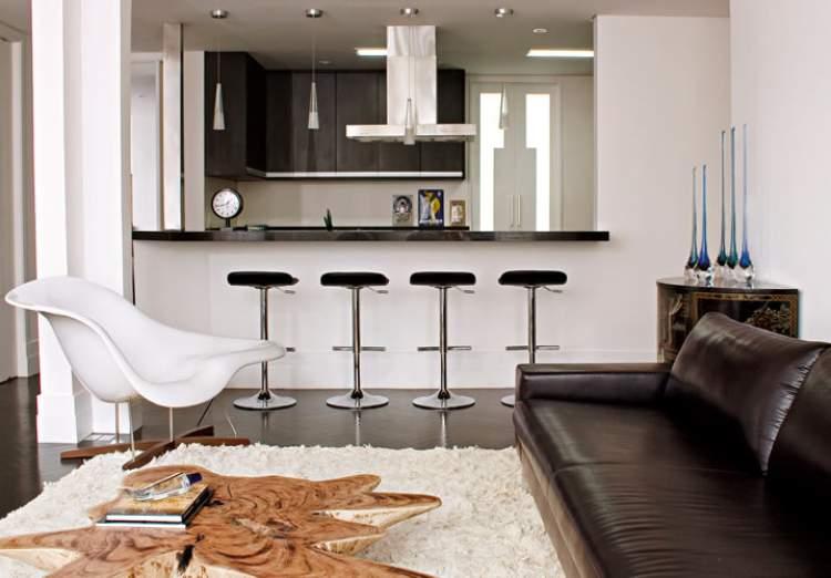 cozinha conjugada com a sala