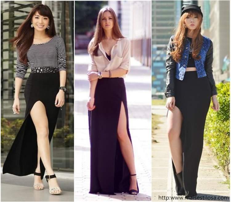 25812e99a8 Como usar saia com fenda frontal - Site de Beleza e Moda