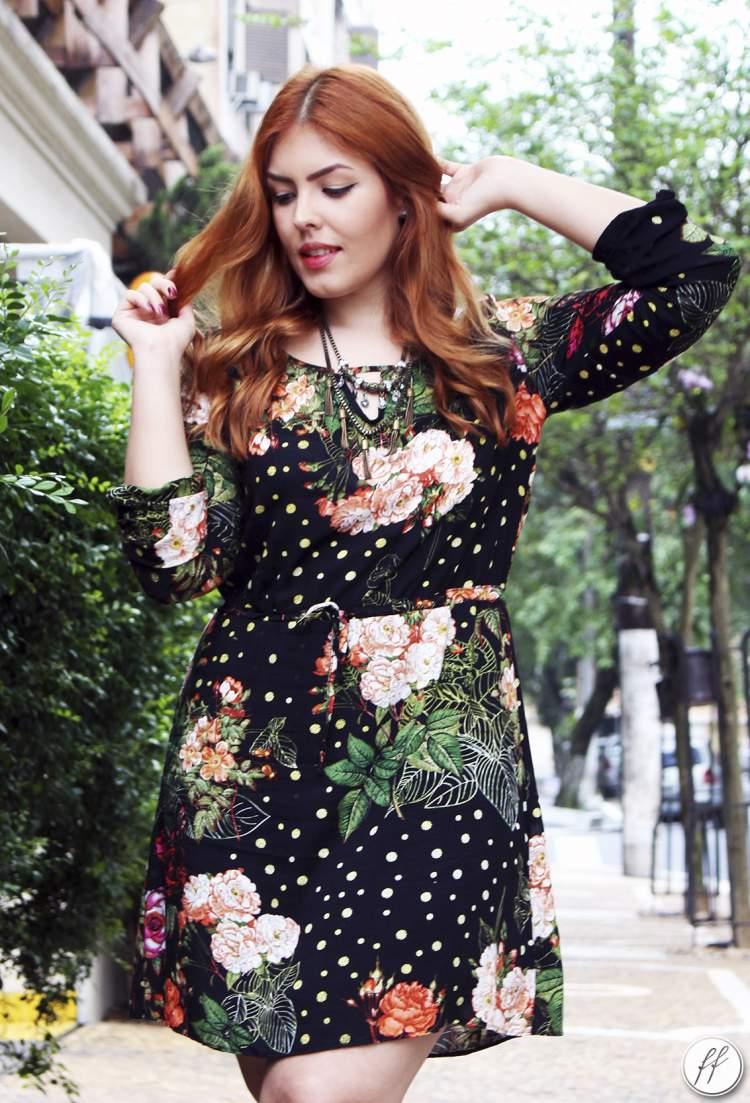 vestido floral é a cara da primavera