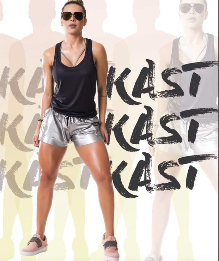 Alessandra Batista em ensaio para a marca Kast Fitness
