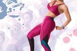 Alessandra Batista faz ensaio e estilista explica tendências da moda fitness