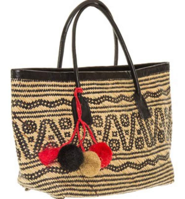 bolsa de palha da coleção Carandaí