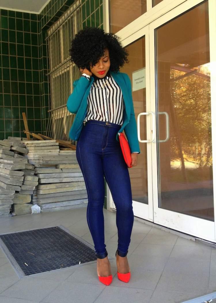 Look com legging jeans
