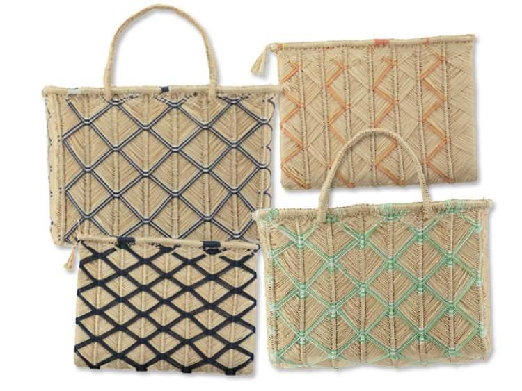 bolsas de palhas da Akra Collection