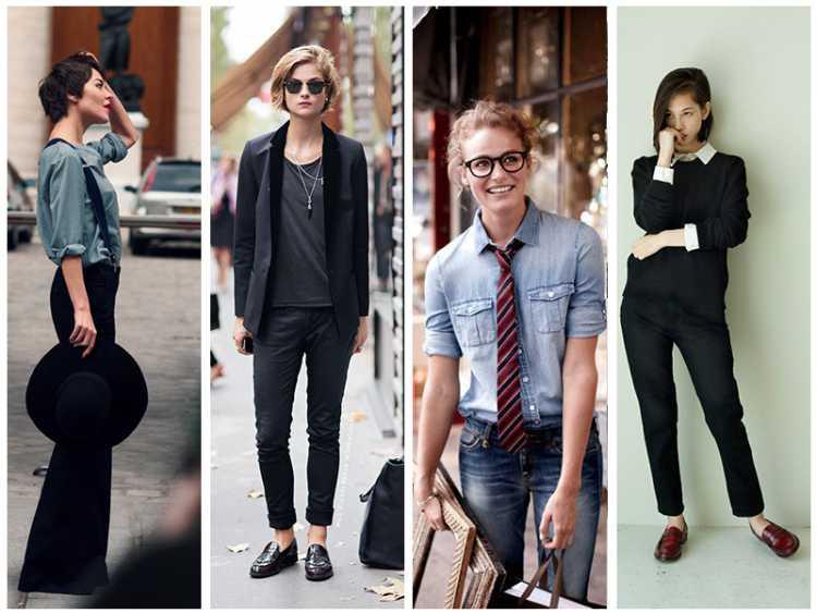 foto de mulheres usando roupas masculinas
