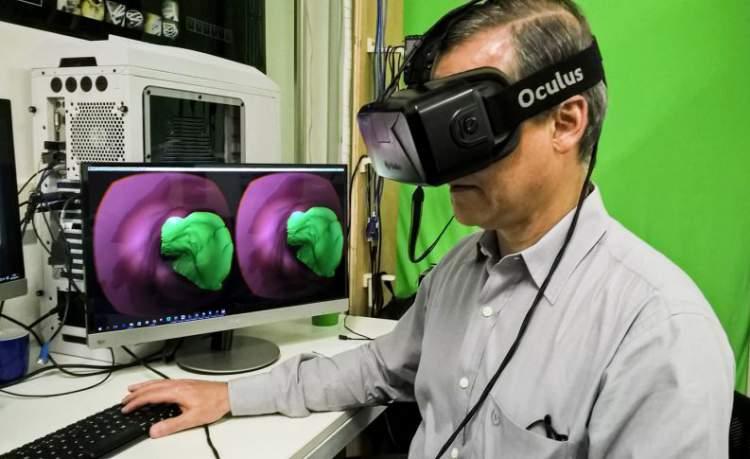 Ultrassom com Óculos 3D Super Realista