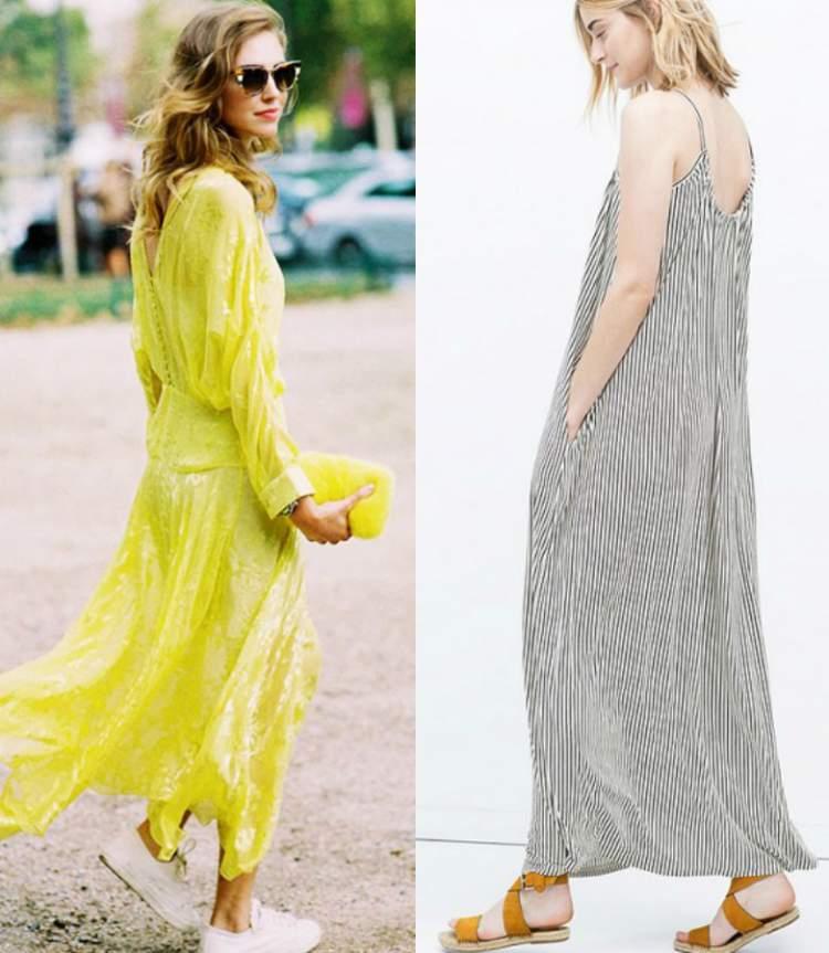 vestido longo confortável para usar durante o dia