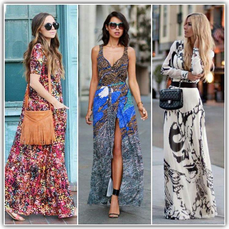 vestidos longos com acessórios poderosos