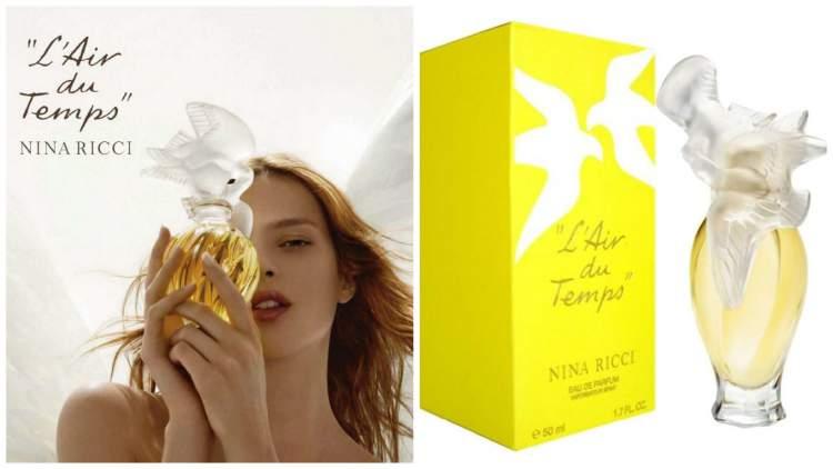 L'Air du Temps de Nina Ricci é um dos melhores perfumes para mulheres românticas