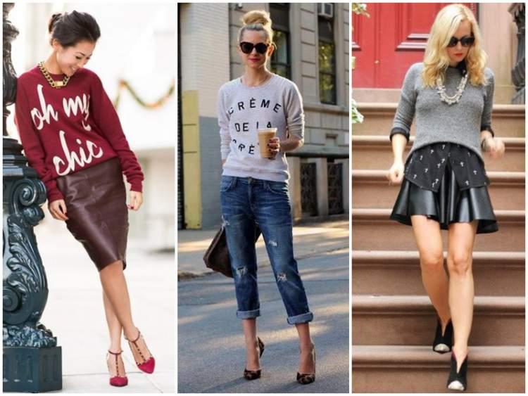 Moletom Fashionista de volta a tendência da moda outono/inverno 2017