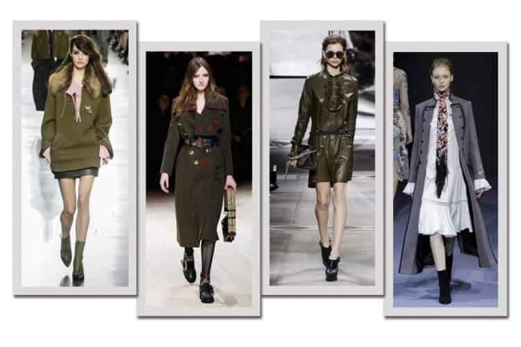 Militarismo entre as tendências da moda outono/inverno 2017