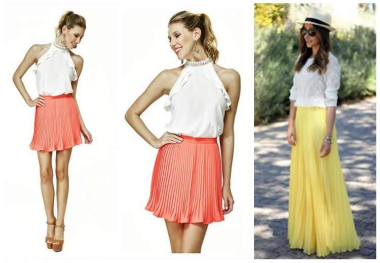 Saia Plissada é uma tendência da moda verão 2017