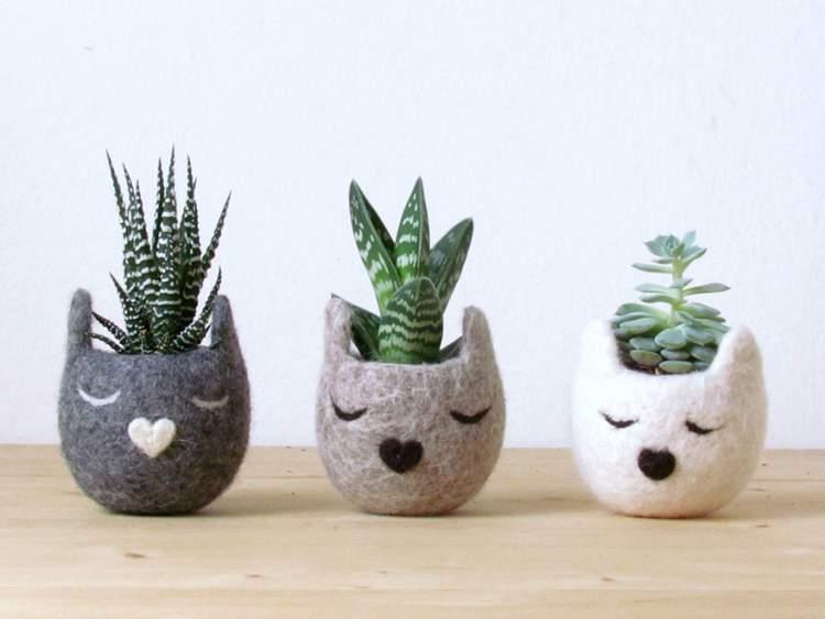 vasos criativos para colocar plantas e flores